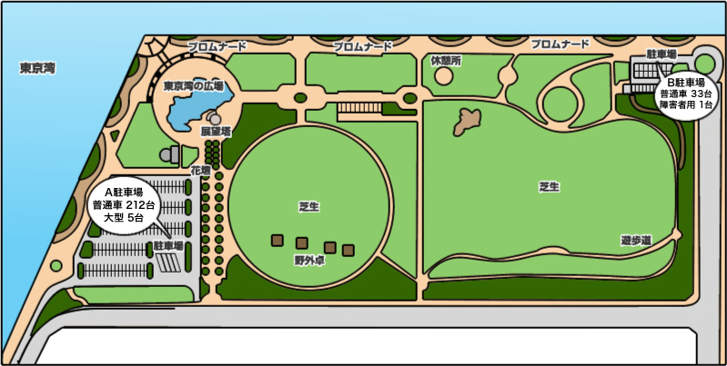 袖ケ浦海浜公園・園内マップ